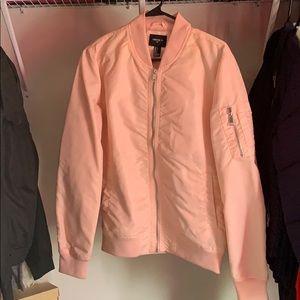Jackets & Blazers - Pastel Pink Men's Forever 21 Bomber Jacket